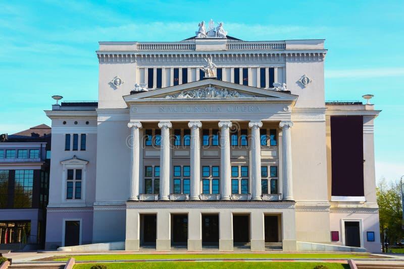 Chambre de théâtre d'opéra et de ballet à vieux Riga images stock