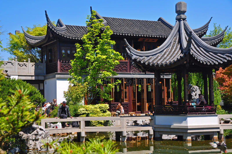Chambre de thé chinoise photographie stock