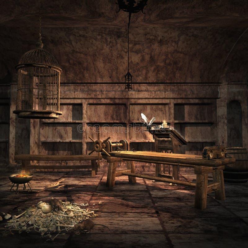 Chambre de torture d'enquête illustration stock