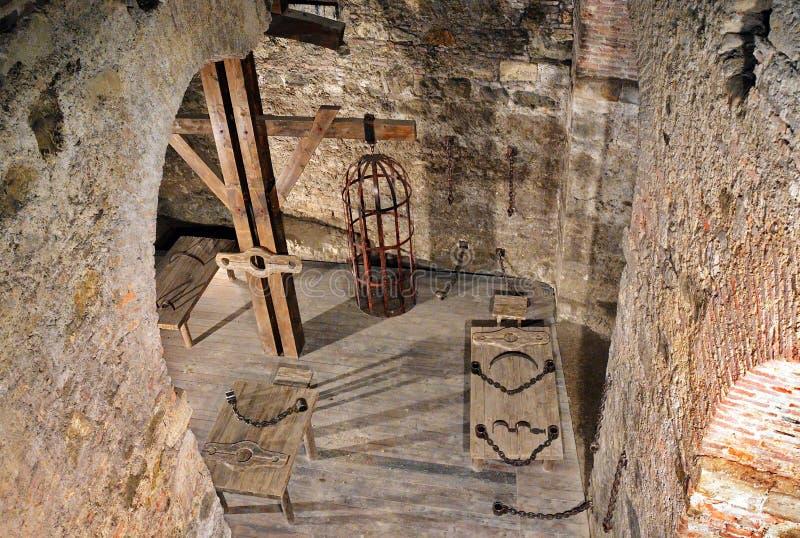 Chambre de torture médiévale photo stock