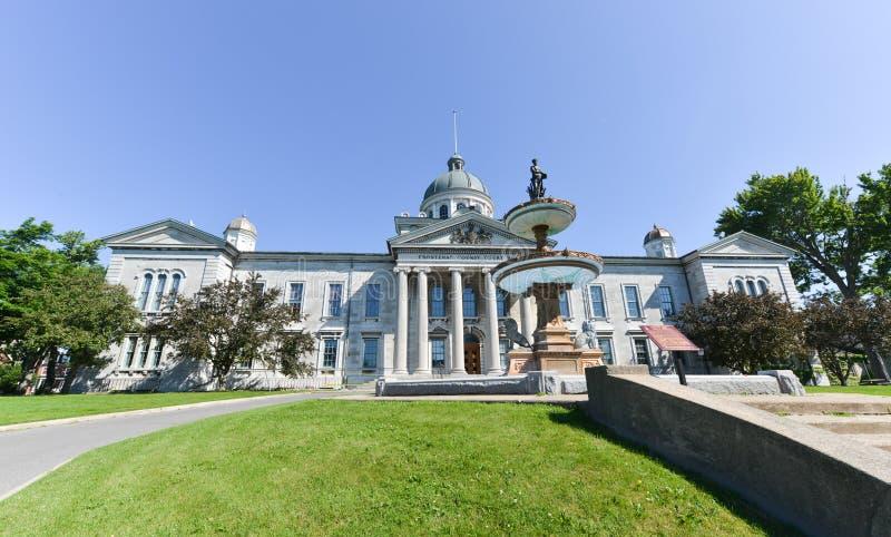 Chambre de Tribunal du Comté de Frontenac à Kingston, Ontario, Canada photographie stock libre de droits