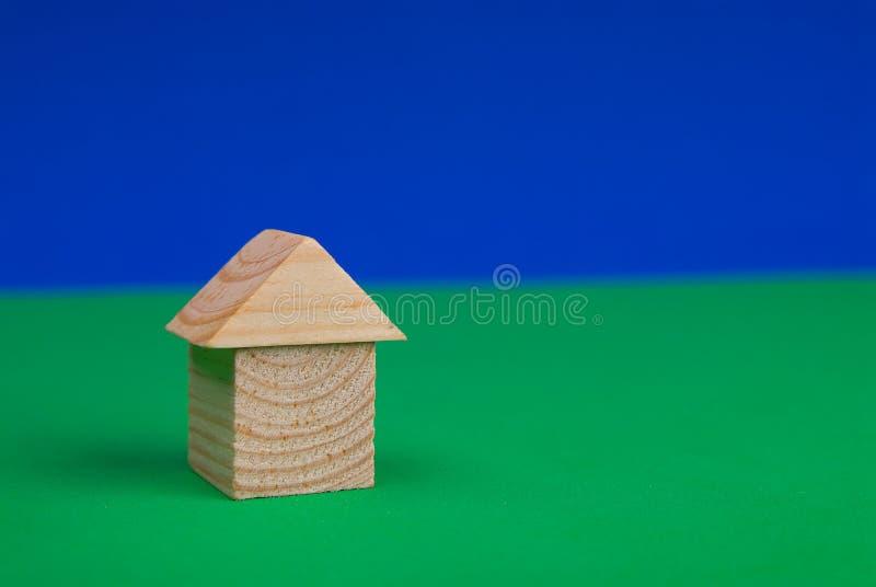 Chambre des blocs en bois image libre de droits