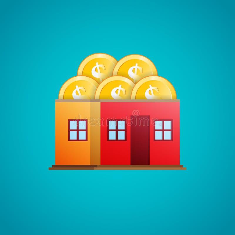 Chambre des pièces de monnaie illustration stock