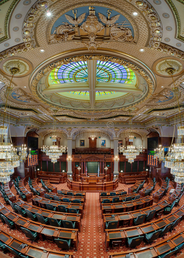Chambre des représentants de l'Illinois la chambre image stock