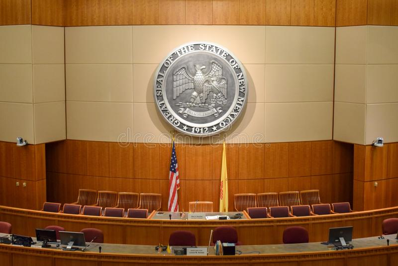 Chambre des représentants vide du Nouveau Mexique la chambre en Santa Fe images libres de droits