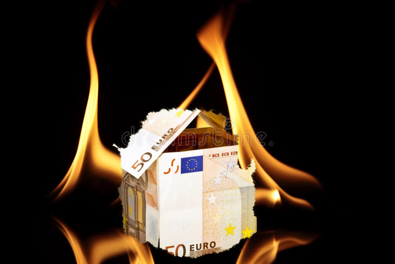 Chambre du burning d'argent photographie stock