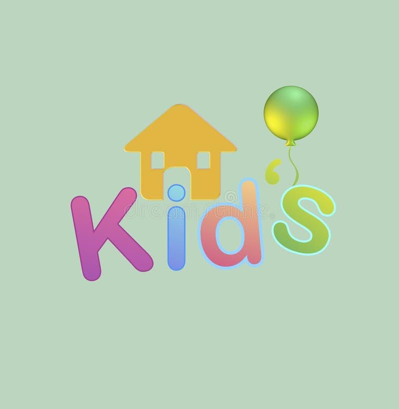 Chambre du ` s d'enfant avec le ballon Illustration illustration de vecteur