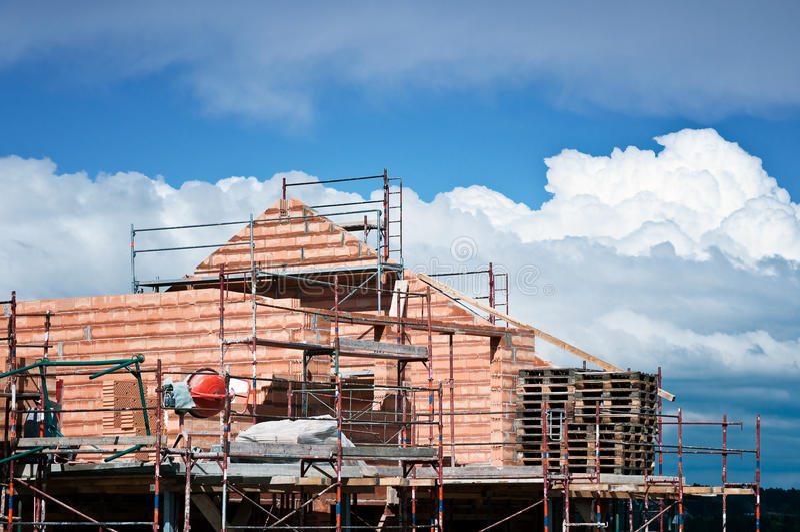 Chambre en construction photographie stock libre de droits