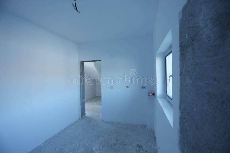 Chambre en construction, vue intérieure photos libres de droits