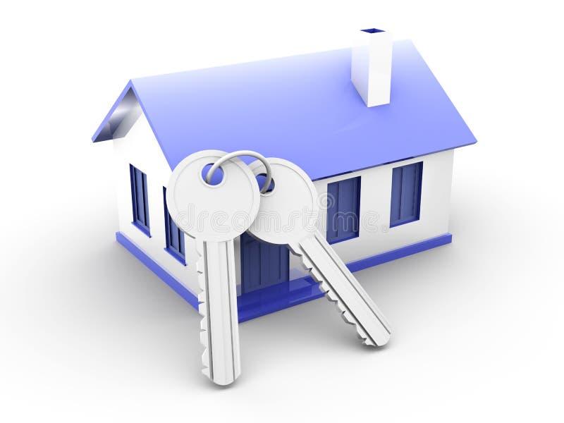 Chambre et clés illustration libre de droits