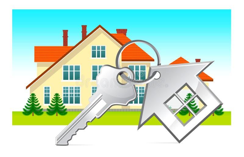 Chambre et clés de maison illustration stock