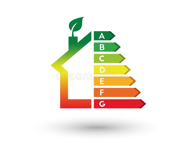 Chambre et concept de rendement énergétique illustration de vecteur