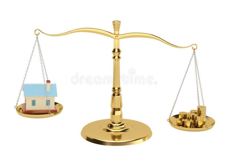 Download Chambre Et Pièces D'or Sur Les échelles, Illustration 3D Illustration Stock - Illustration du emprunt, isolement: 87705197