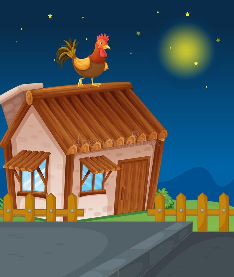 Chambre et poule illustration de vecteur