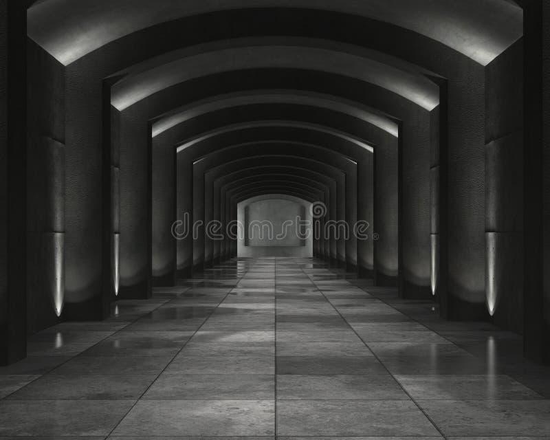 Chambre forte concrète intérieure images libres de droits