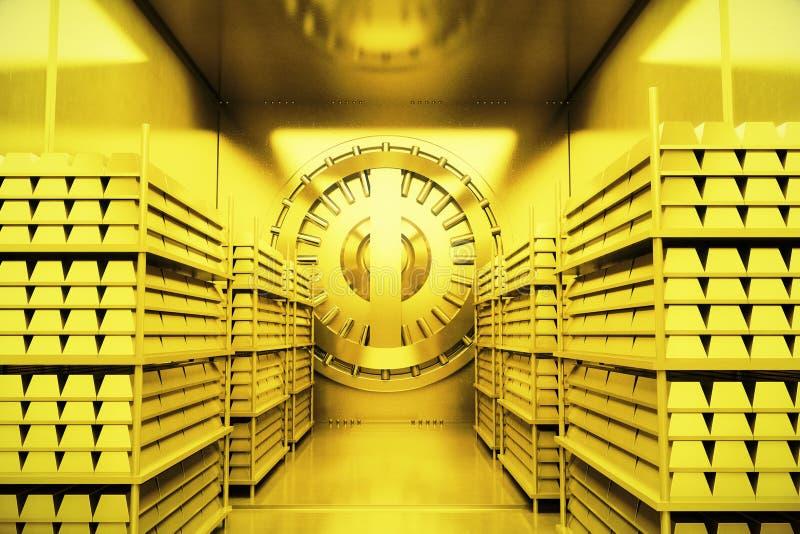 Chambre forte de banque à l'intérieur illustration stock