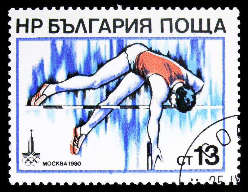 Chambre forte de Polonais, Jeux Olympiques d'été 1980, Moscou : Serie d'athlétisme, vers 1979 photos libres de droits