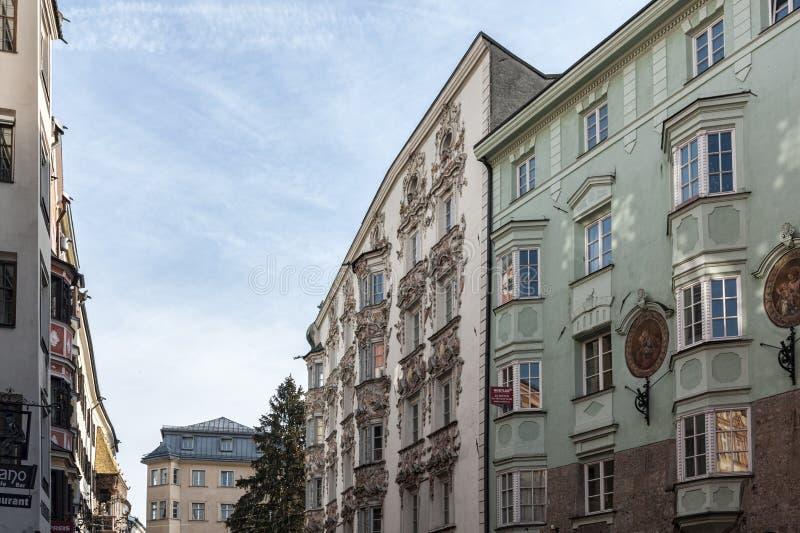 Chambre Helblinghaus de Helbling chez Herzog-Friedrich-Strasse - est un bâtiment dans le style baroque situé dans la vieille vill image libre de droits
