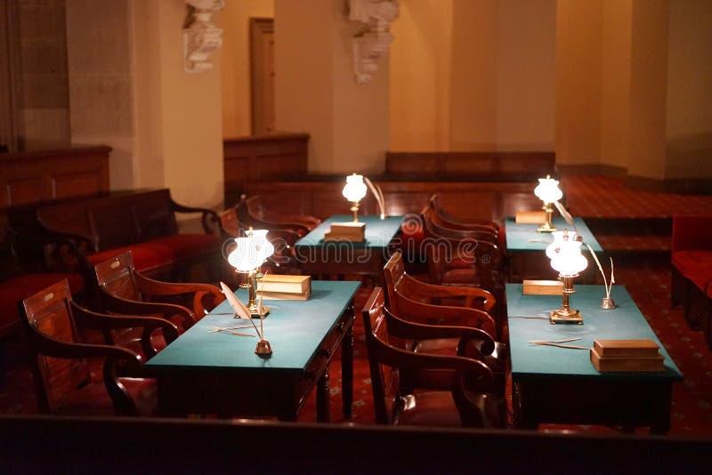 Chambre historique de court suprême - capitol des USA image libre de droits