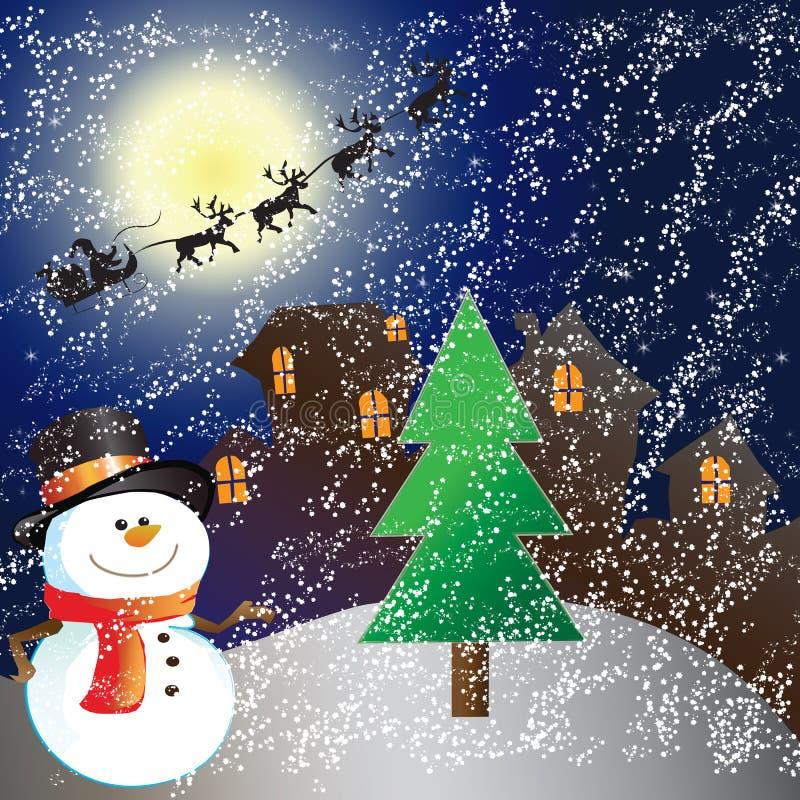 Chambre le jour de Noël illustration libre de droits