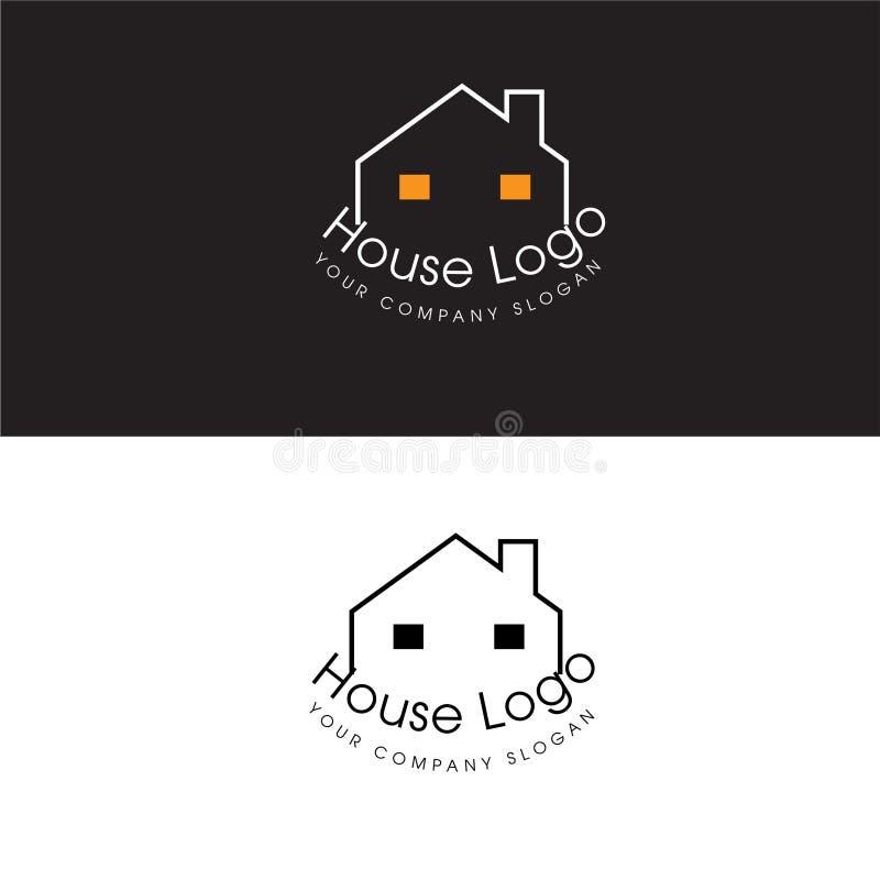 Chambre Logo Real Estate Design Template et icône de Chambre illustration de vecteur