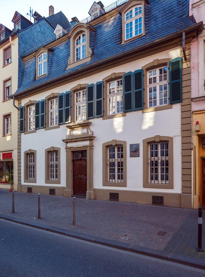 Chambre, où Karl Marx était né, Trier photo libre de droits