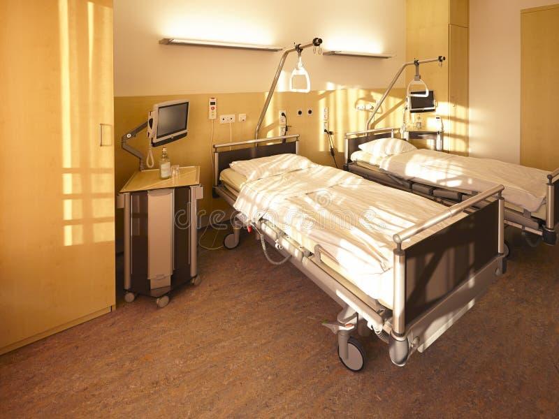 chambre pour deux personnes de lit d 39 h pital photo stock image du co ts co t 37932436. Black Bedroom Furniture Sets. Home Design Ideas