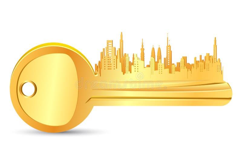 Chambre principale d'or illustration stock