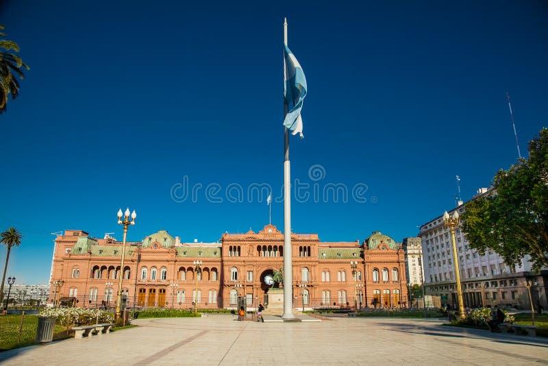 Chambre rose présidentielle à Plaza de Mayo à Buenos Aires, Argentine photographie stock
