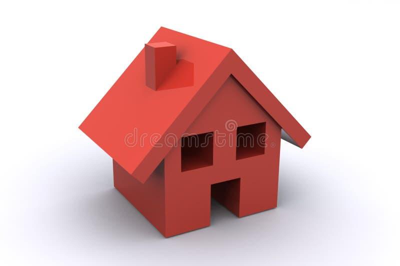 Chambre rouge illustration de vecteur