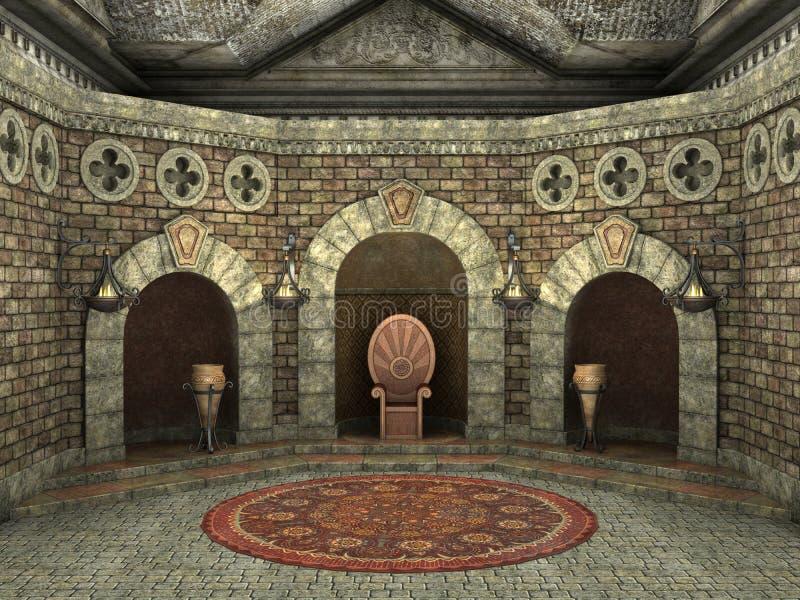 Chambre royale de trône illustration libre de droits
