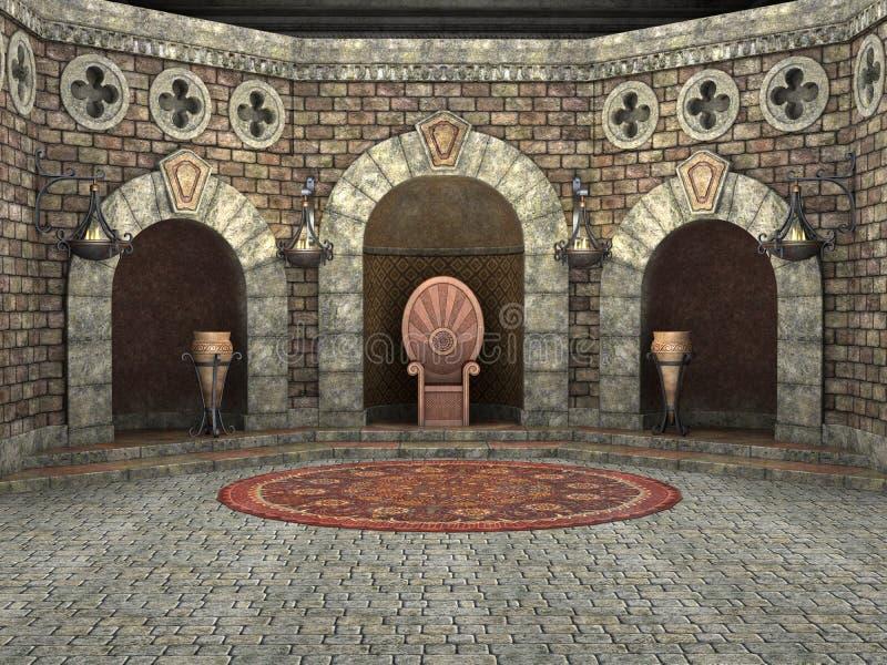 Chambre royale de trône illustration de vecteur