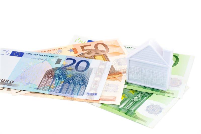 Chambre sur d'euro billets de banque d'isolement image libre de droits
