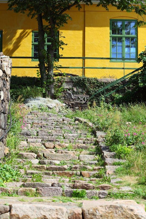 Chambre sur l'île Bornholm Danemark de Christiansoe photo stock