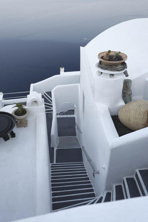 Chambre sur l'île de Santorini photographie stock