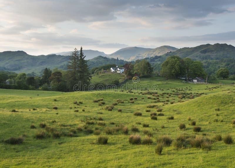 Chambre sur le chemin de Cumbria photo stock