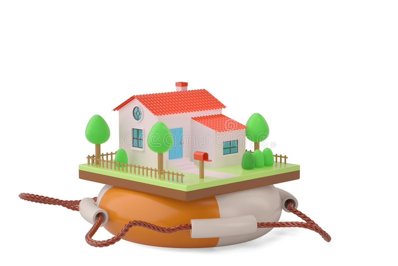 Download Chambre Sur Un Conservateur De Vie Illustration 3D Illustration Stock - Illustration du lifebuoy, emprunt: 87705397
