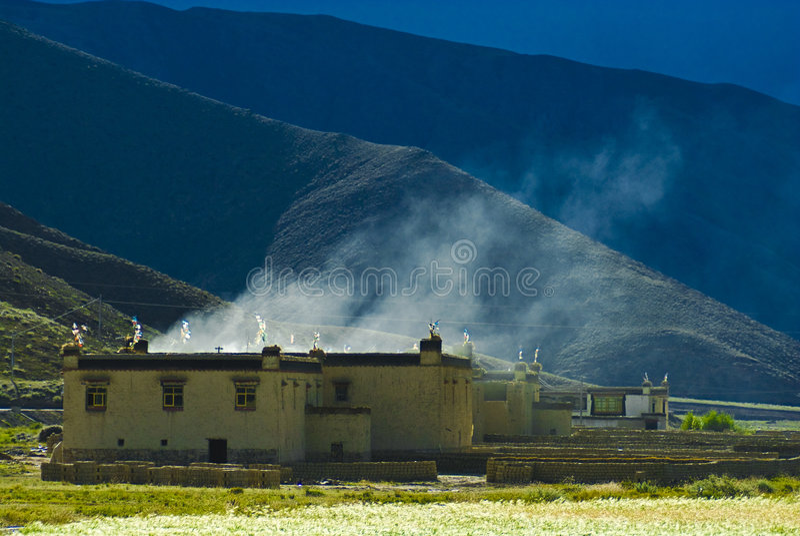 Chambre tibétaine photos stock