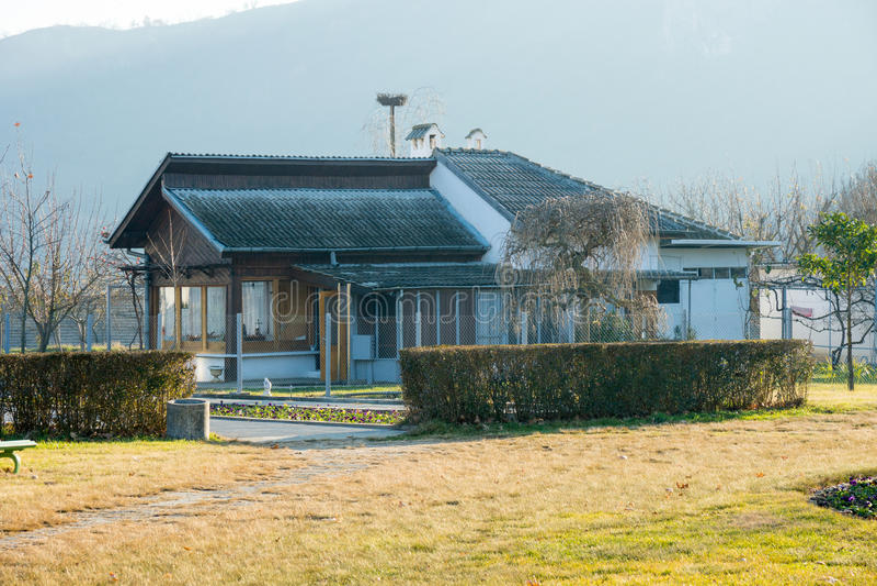 Chambre Vanga dans Rupite en Bulgarie, décembre image libre de droits