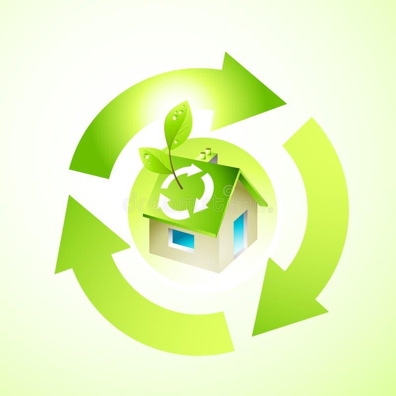 Chambre verte illustration stock