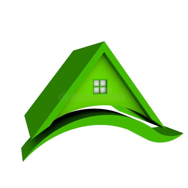 Chambre verte de toit illustration de vecteur