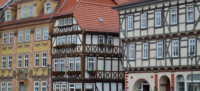 Chambres à colombage magnifiques en Allemagne image stock