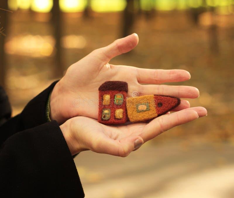 Download Chambres dans des mains photo stock. Image du conceptuel - 45358688