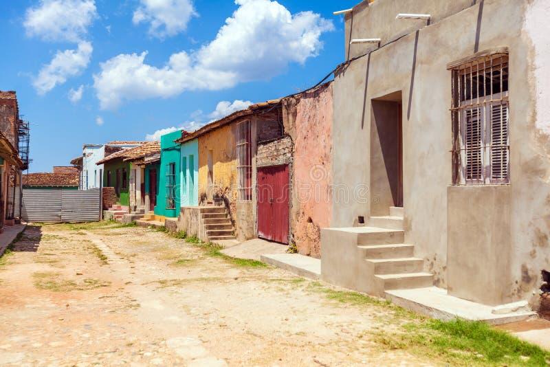 Chambres dans la vieille ville, Trinidad images stock