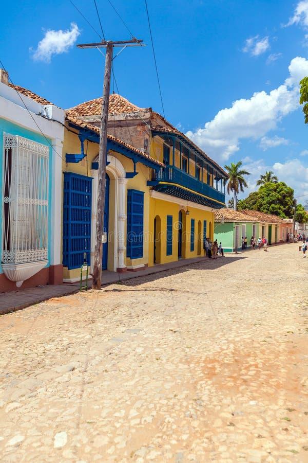 Chambres dans la vieille ville, Trinidad photos stock