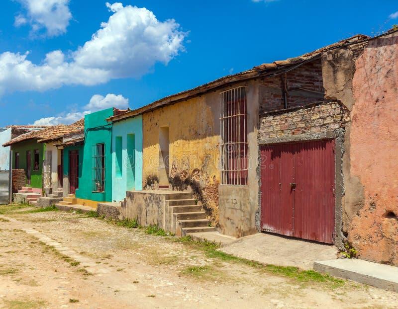 Chambres dans la vieille ville, Trinidad image stock