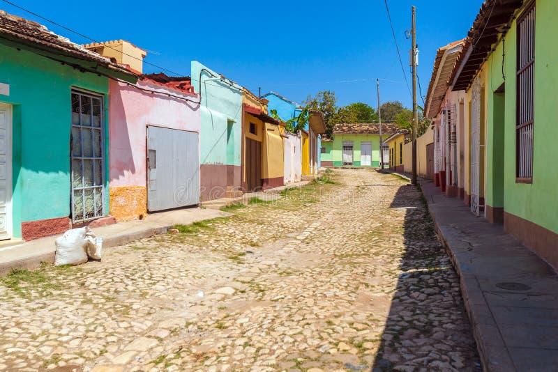 Chambres dans la vieille ville, Trinidad images libres de droits