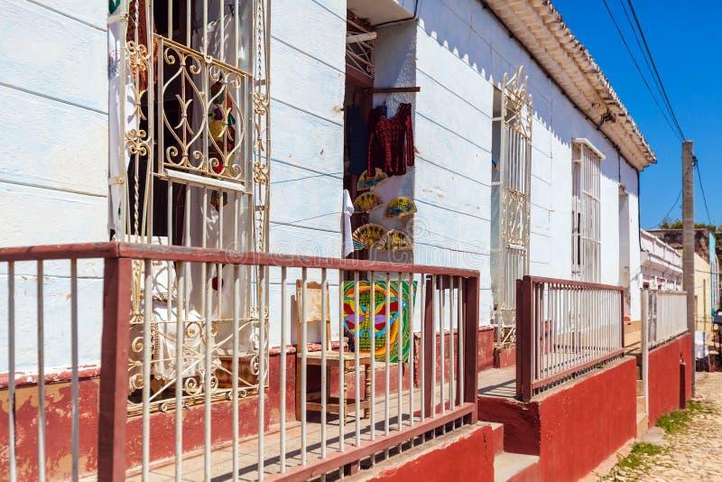 Chambres dans la vieille ville, Trinidad image libre de droits