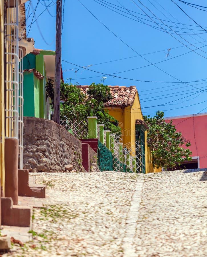 Chambres dans la vieille ville, Trinidad photo libre de droits