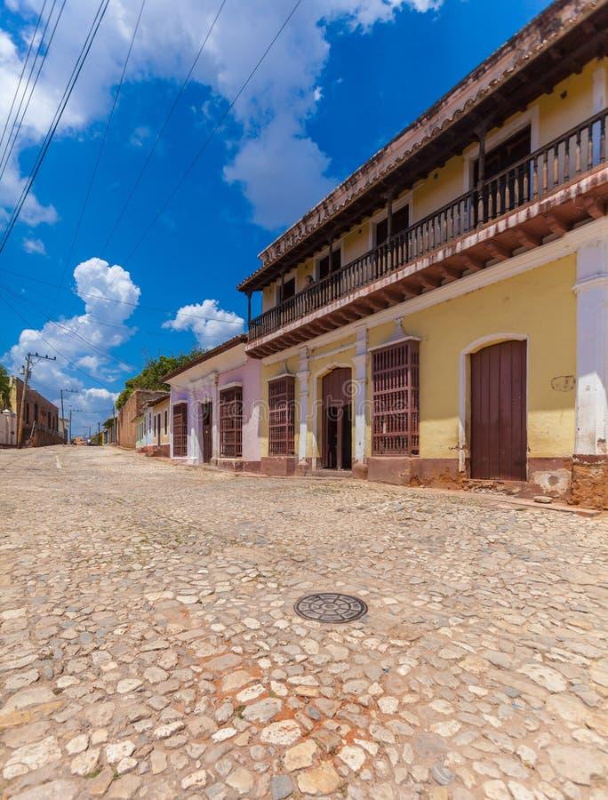 Chambres dans la vieille ville, Trinidad photo stock